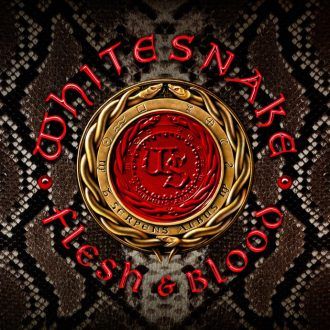 "Whitesnake - Reprodução da capa do álbum ""Flesh & Blood"""