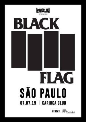Black Flag em SP - Cartaz do Show