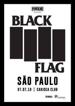 Black Flag em SP - Cartaz do Show