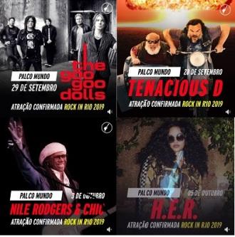 Rock in Rio 2019 - Montagem com atrações