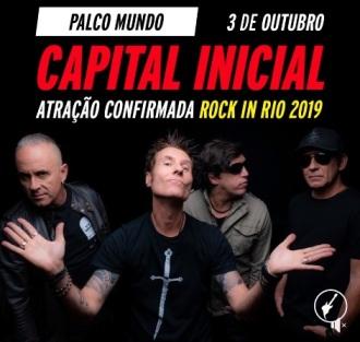Capital Inicial no Rock in Rio - Reprodução de cartaz