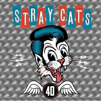 """Stray Cats - Reprodução da capa do álbum """"40"""""""