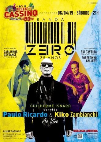 Banda Zero - Show em SP - Cartaz de Divulgação