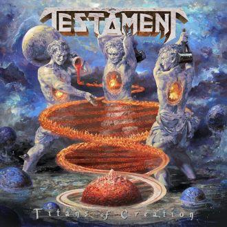 """Testament - Reprodução da capa de """"Titans of Creation"""""""